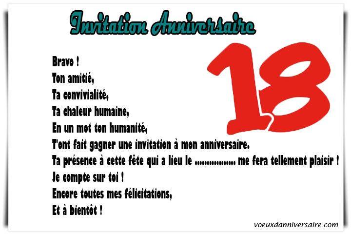 Texte D'invitation Pour Un Anniversaire 18 Ans Unique Modele Lettre Anniversaire 18 Ans Docum ...