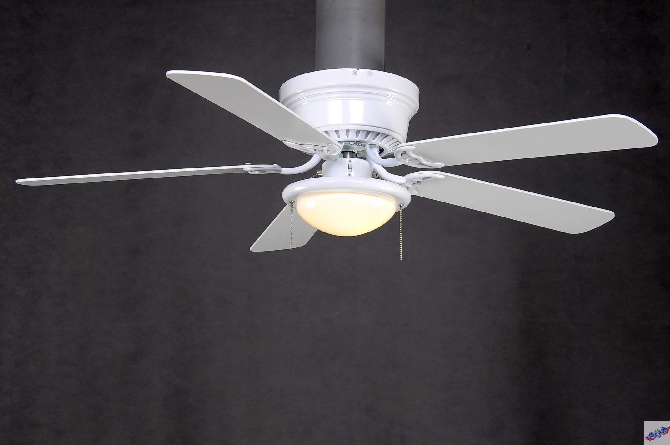 Hampton Bay Hugger in White Ceiling Fan White ceiling fan