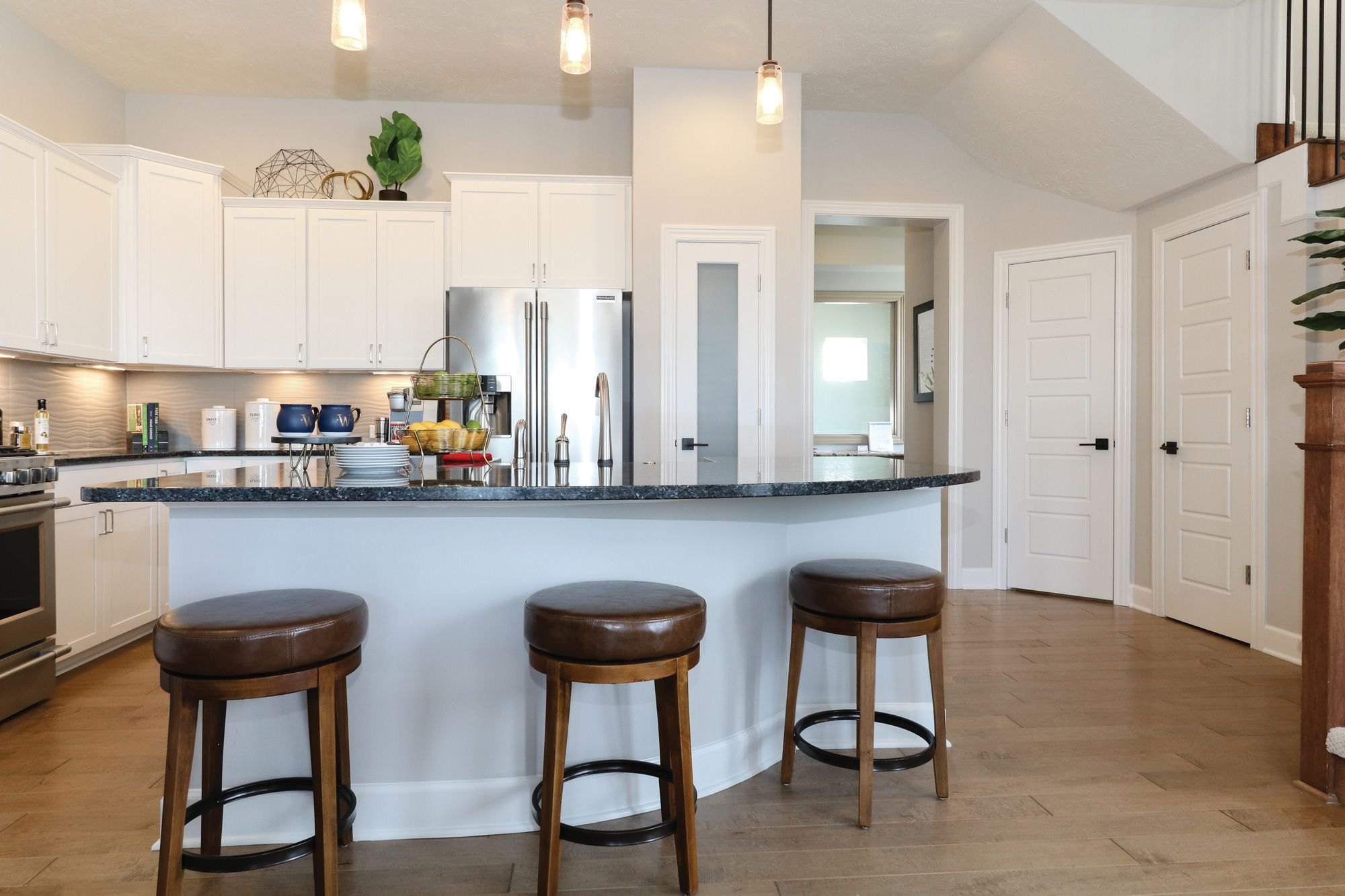 The Alamanni is located in Fishers, IN. The white cabinets ...
