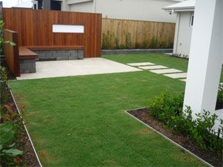 Aluminium Garden Edging Nice Modern Touch Concrete 400 x 300