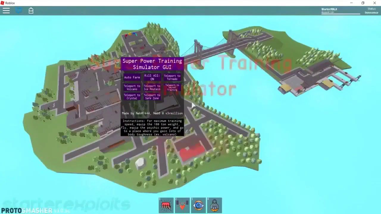 Roblox Hack Super Power Training Simulator Afk Farm Max Skills