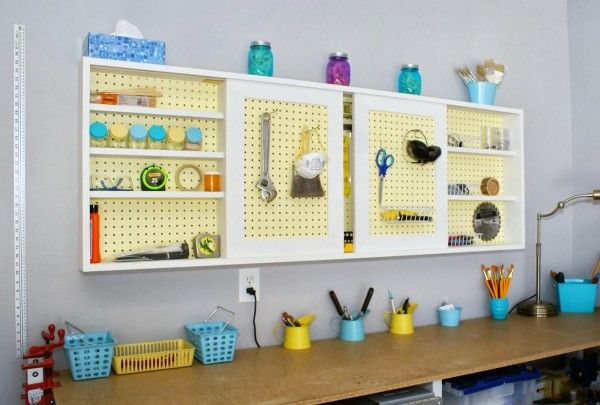 Build An Organized Pegboard Tool Cabinet And Simple Workbench