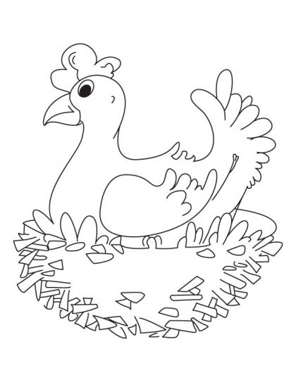 My sweet home hen coloring pages Download Free My sweet home hen