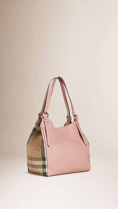 385cc8d6fe27 Pale orchid The Small Canter in Leather and House Check - Image 1