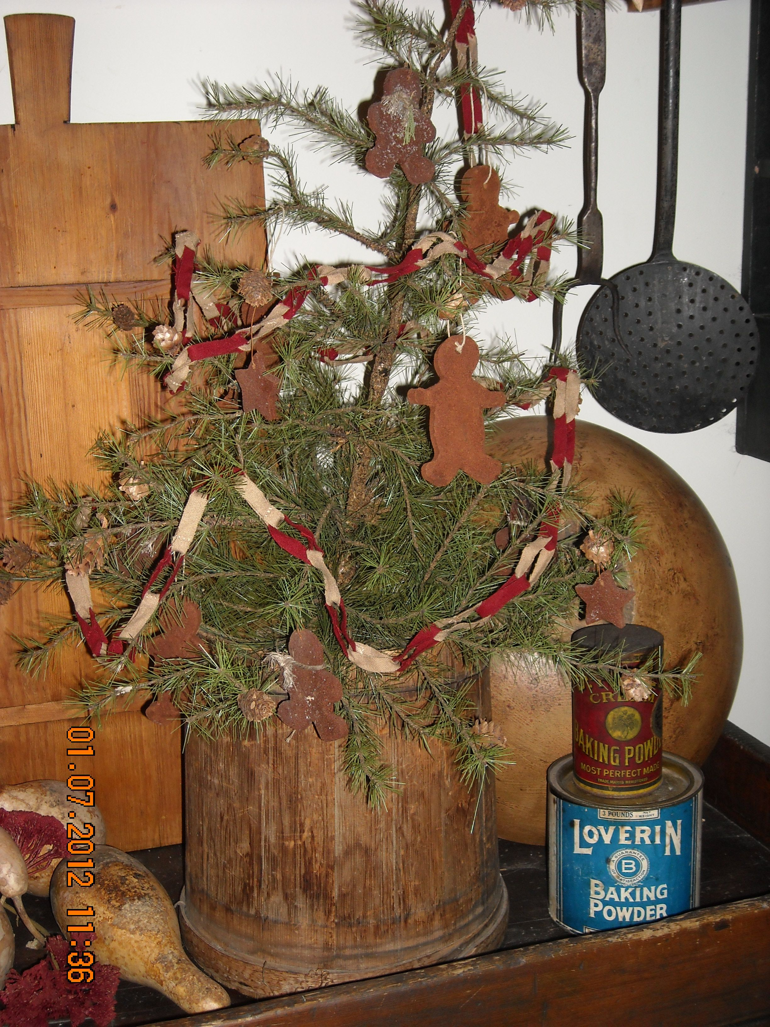 Kitchen Gingerbread Tree Primitive Christmas Tree Primitive Christmas Decorating Primitive Country Christmas