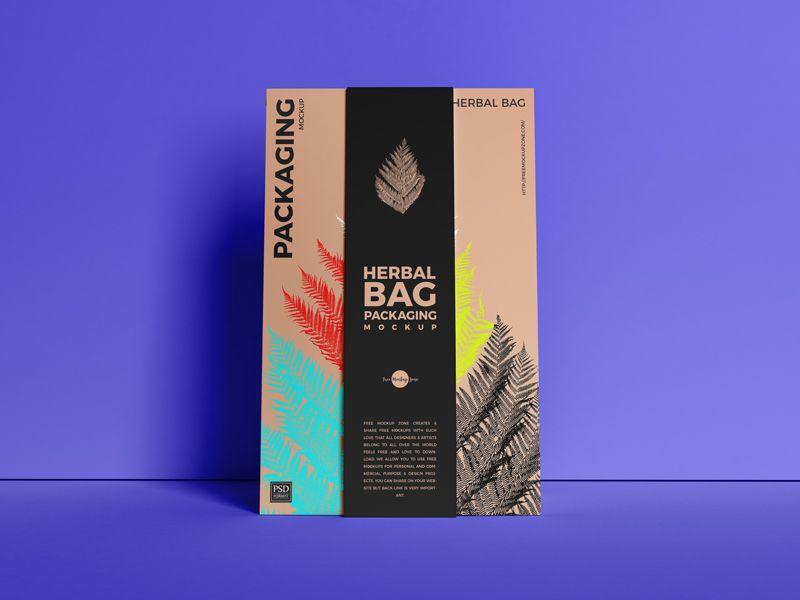 Download Paper Herbal Bag Packaging Free Mockup Packaging Mockup Free Mockup Bag Packaging