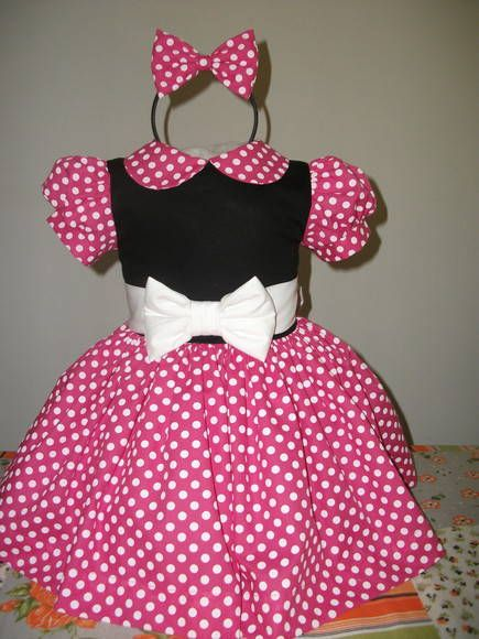 color rojo Vestido de fiesta con dise/ño de Minnie Mouse para ni/ñas y ni/ños Minnie Mouse 3 a/ños 2