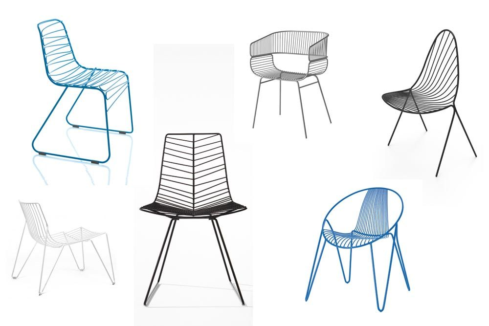 Sélection Outdoor chaises en fil d'acier / Yooko
