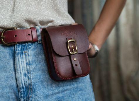 Hands-free Pocket Belt Fashion Bag Safe Bags Greek Leather Belt Bag Hip Pouch Small Bag Gift for her Leather Belt Pack Crossbody bag