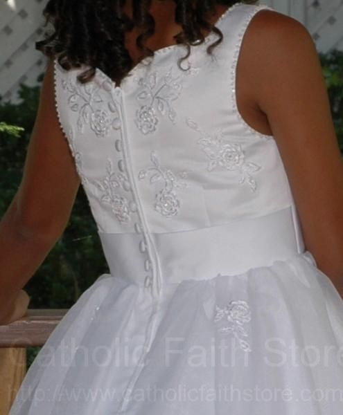 Catholic First Communion Dresses | ... dress has beading or ...