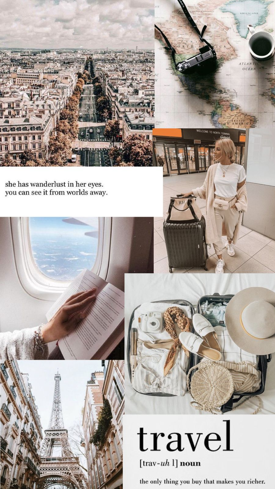 Moodboard Travel Collage Iphone Wallpaper Travel Iphone Wallpaper Tumblr Aesthetic