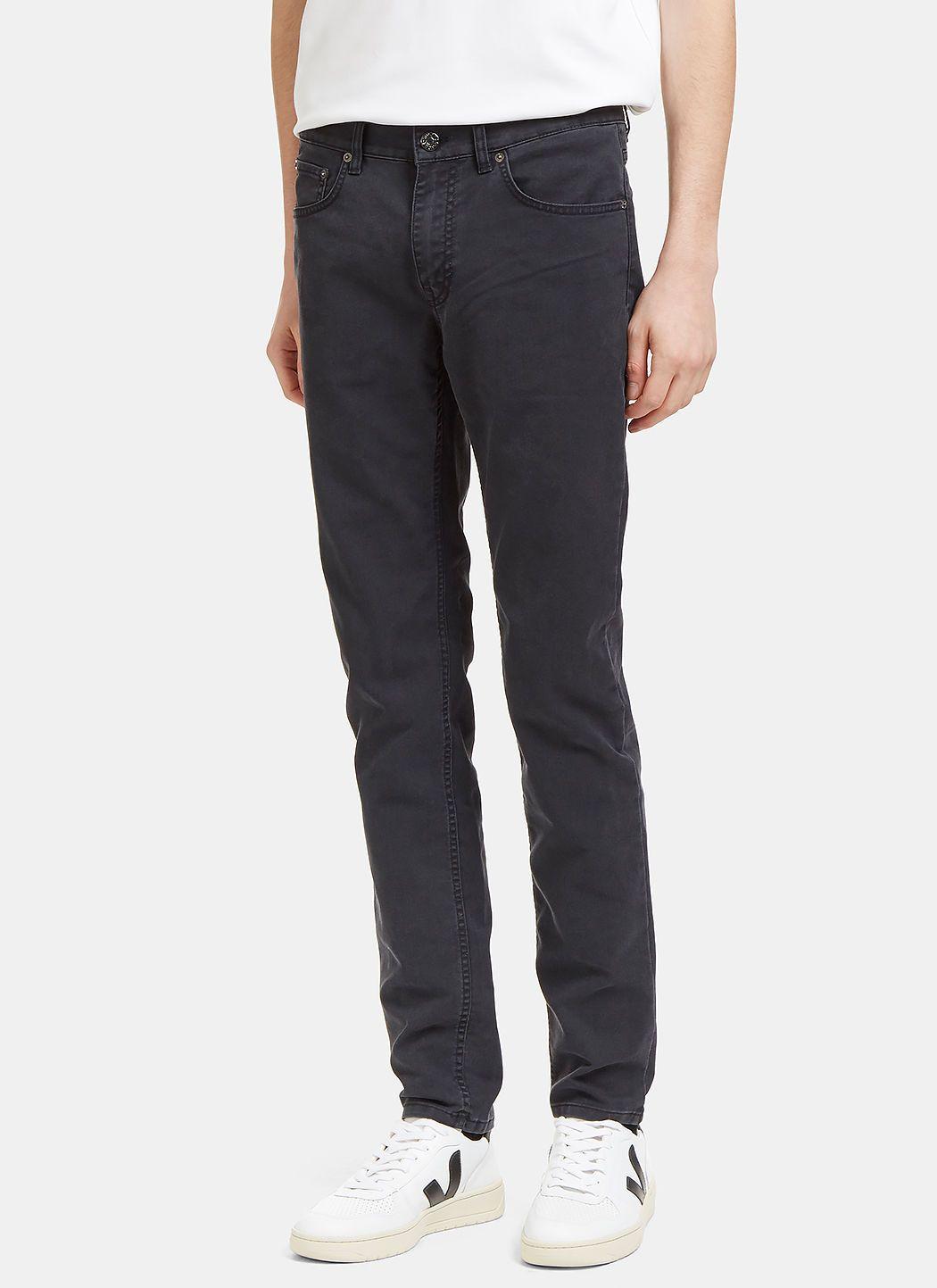 ACNE STUDIOS Men s Ace Ups Skinny Leg Jeans in Charcoal.  acnestudios   cloth   b1e912ff88a