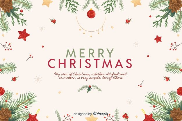 Hand Drawn Christmas Background Free Vec Free Vector Freepik Freevector Backg Christmas Background Merry Christmas And Happy New Year Christmas Vectors