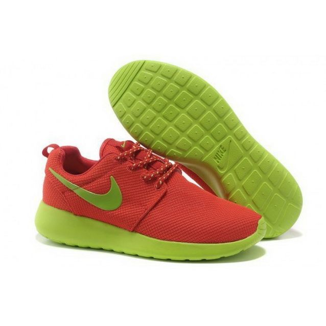 cheap for discount 45d99 e00b3 Women Nike Roshe One Shoes Red Green