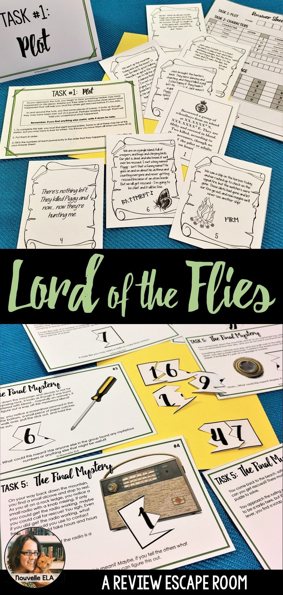 Lord Of The Flies Escape Room Review Activity Esl Lessons