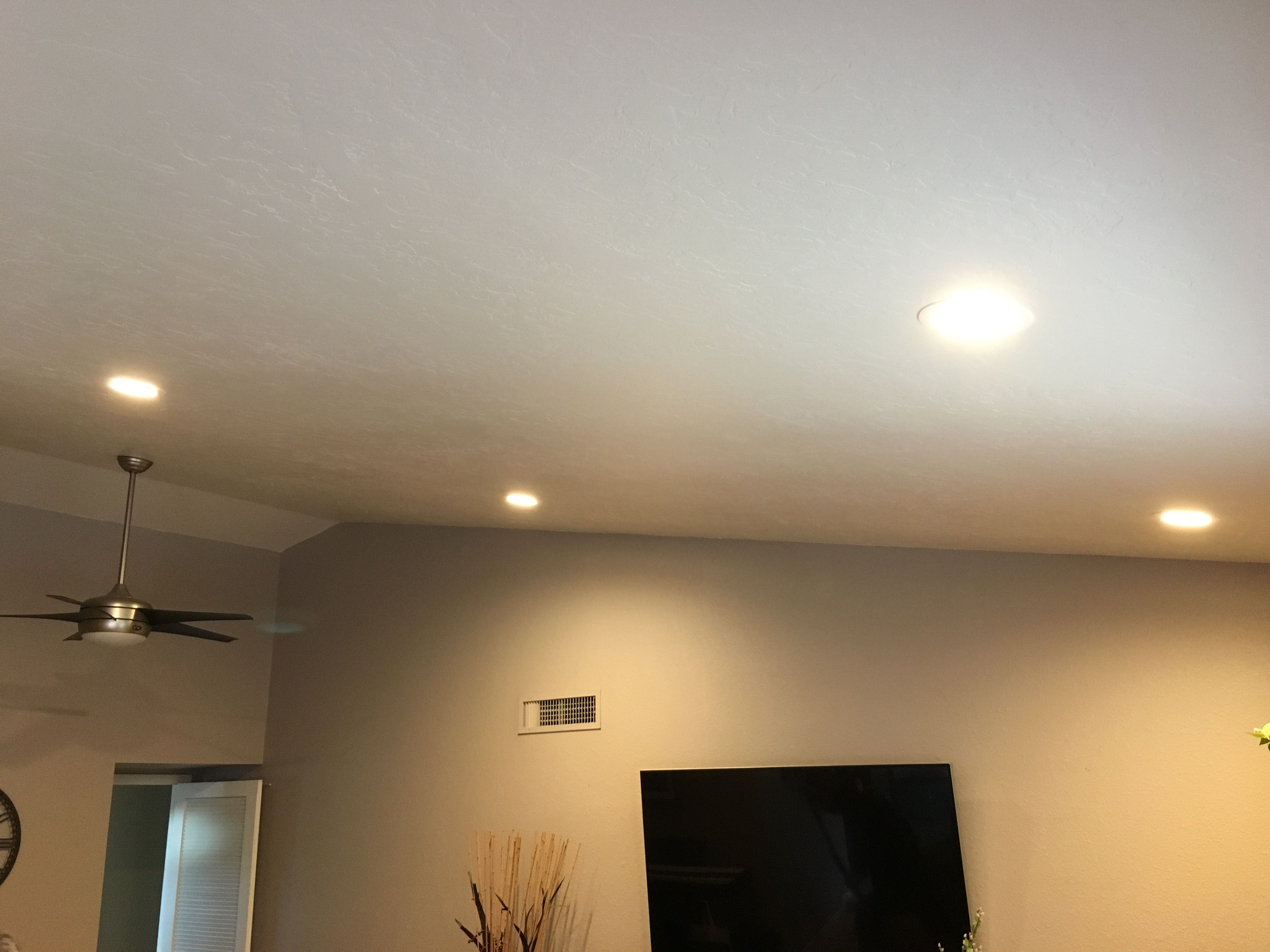 Vaulted ceiling 4 6-inch LED\'s spliced to an existing switch in ...