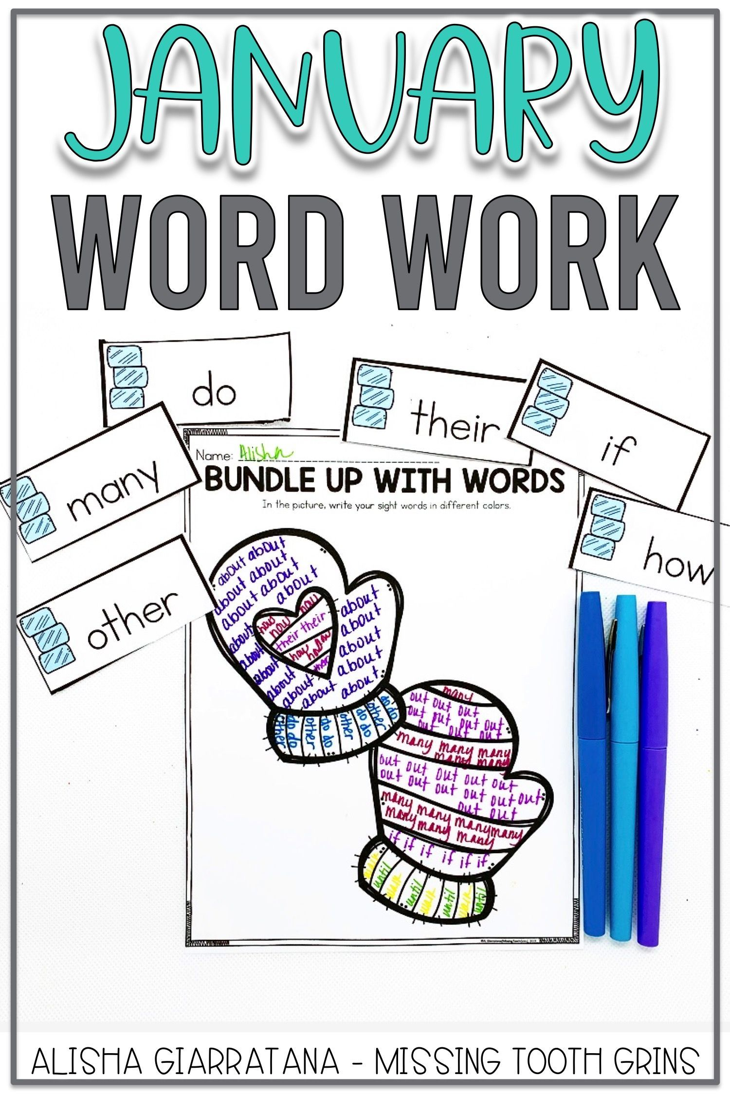 Word Work Center January