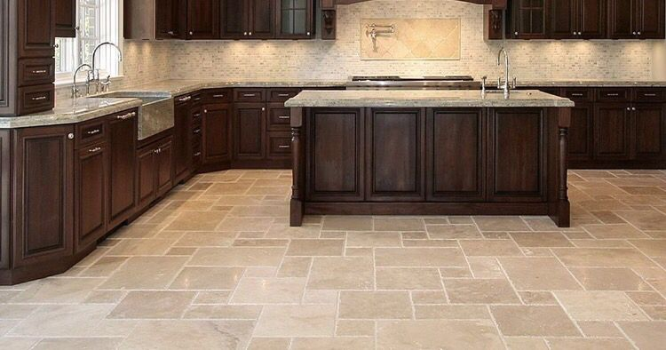 Beautiful Tan Toned Marble Tile Flooring Available At Express Flooring Deer Valley North Phoe Top Kitchen Designs Kitchen Design Pictures Kitchen Floor Tile