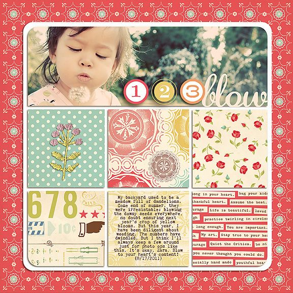 Art is in Your Heart Scrapbook Page Kit