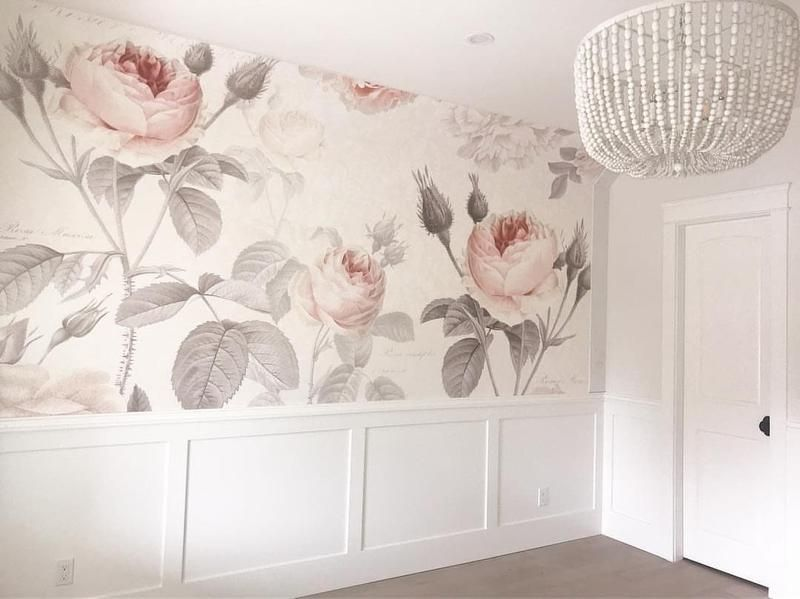 La Maison Wall Mural Floral Komar Decal Floral Wallpaper Bedroom Room Wallpaper Floral Bedroom