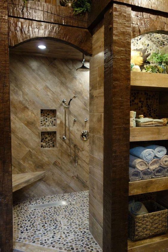 Great Ideas For Modern Barndominium Plans Rustic Bathroom Designs Master Shower
