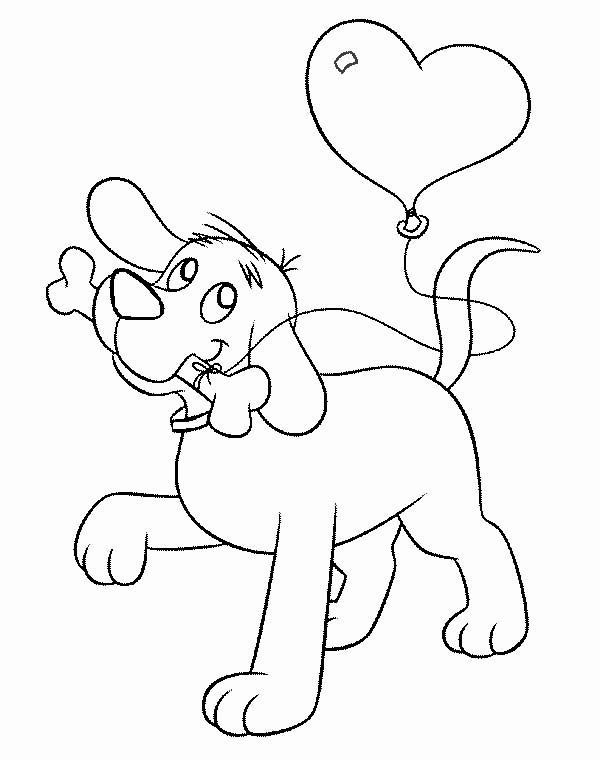 Coloring Pages Puppy With A Bone
