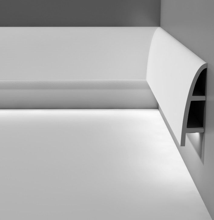 Indirect Lighting Techniques And Ideas For Bedroom Living: Large Calabasas Molding For Indirect Lighting Installed