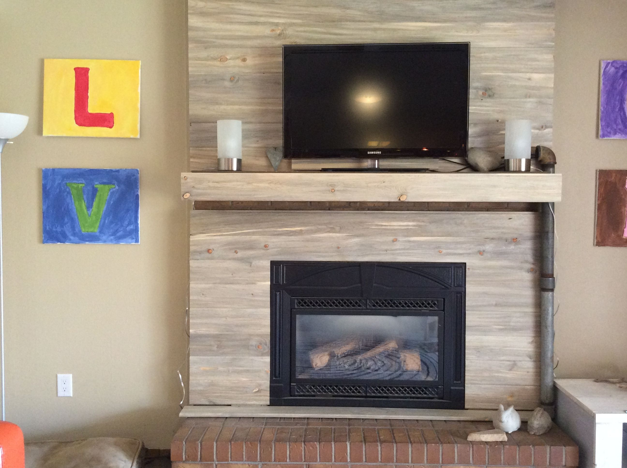 Wrapping Hearth And Trimming Sides To Go On This Brick Fireplace