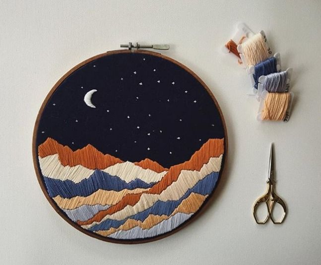 Embroidered Illustrations Capture the Enchanting Magic of Mother Nature's Mountains