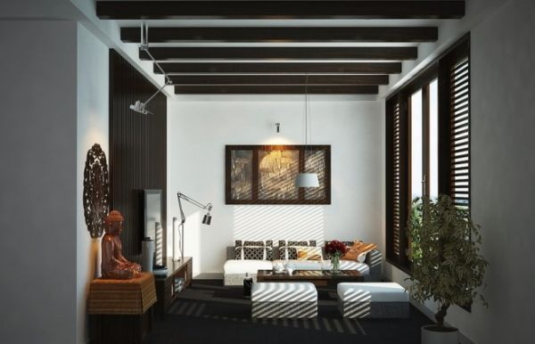 Asian Design Living Room Classy Modern Interiors With An Oriental Charmvic Nguyen  Living Design Ideas