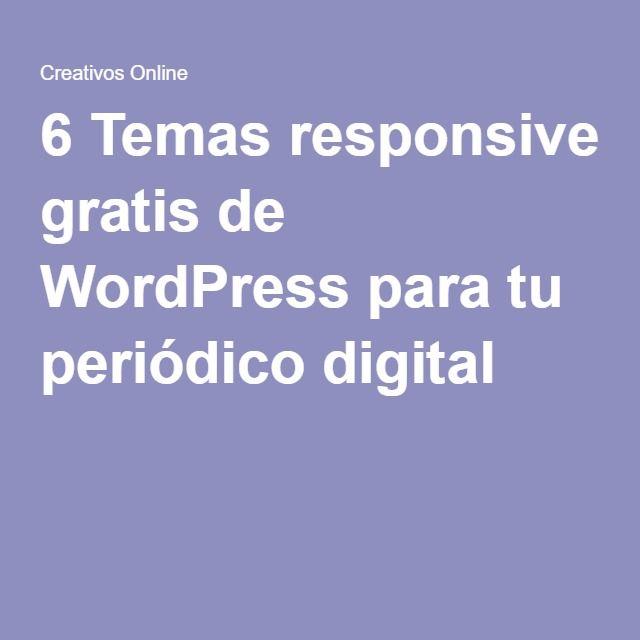 6 Temas responsive gratis de WordPress para tu periódico digital ...