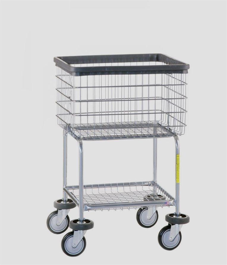 R B 300g Rolling Laundry Cart With Bottom Shelf Storageshelves