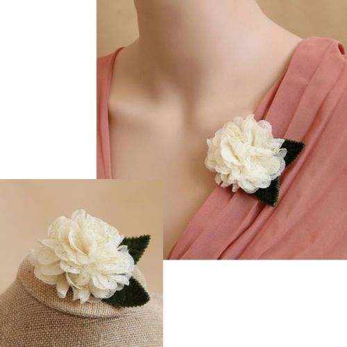Ladies-Flower-Brooch-Pins-Breastpin-Fancy-Dress-Cardigan-Corsage-Decor-Xmas-Gift