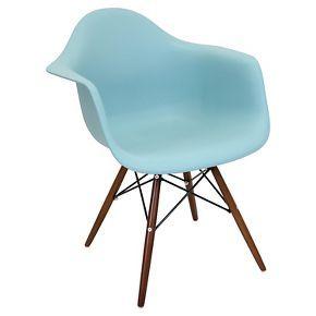 Neo Flair Mid Century Modern Espresso Wood Legged Dining Chair