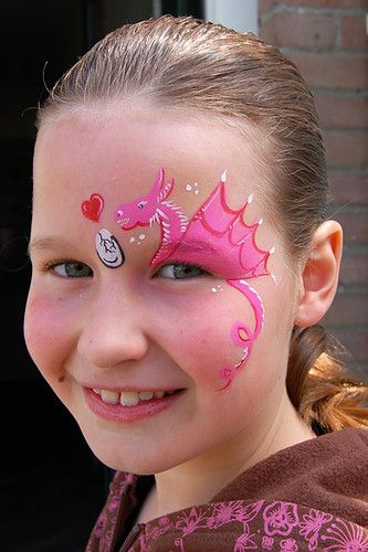 kinderschminken dragon maquillage enfants pinterest. Black Bedroom Furniture Sets. Home Design Ideas