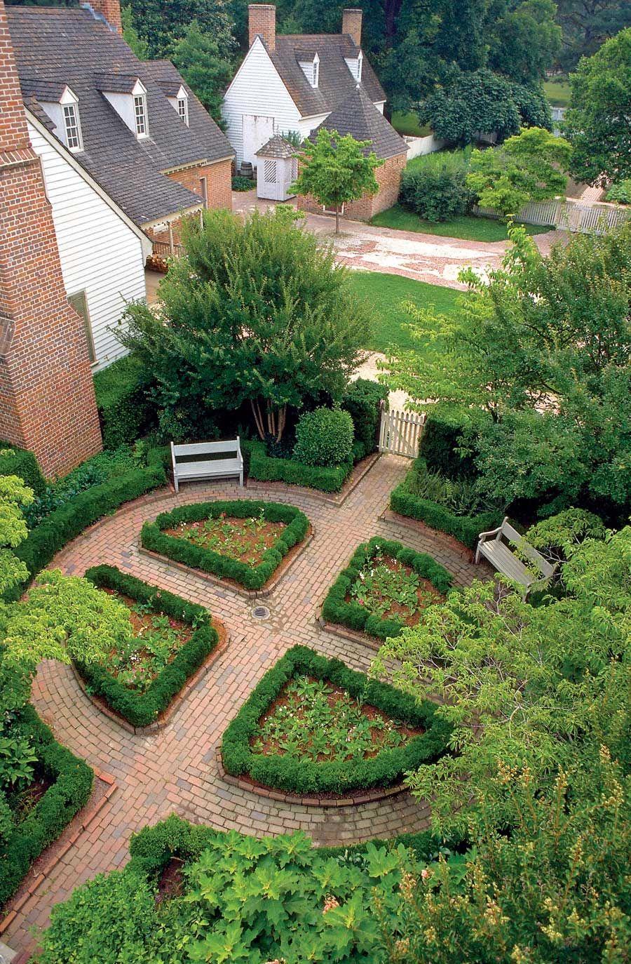 Williamsburg Herb Garden Photo Courtesy The Colonial Williamsburg Foundation Http Www Colonial Garden Parterre Garden Garden Design