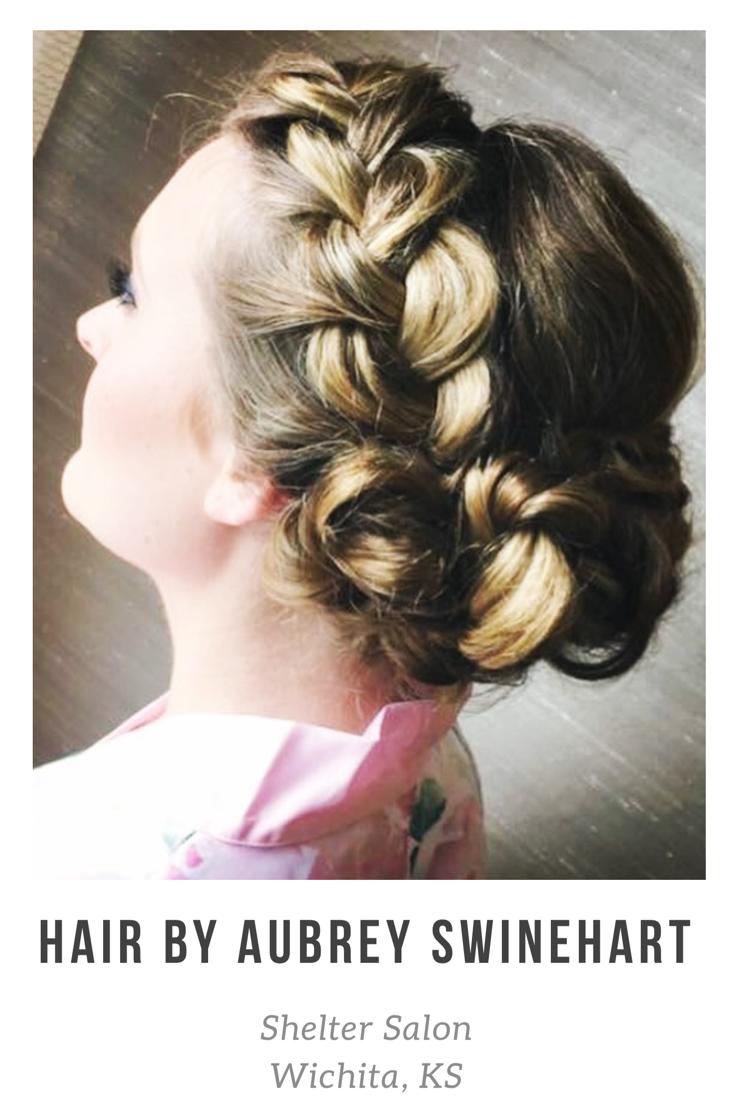 wedding hair and braids by aubrey swinehart   shelter salon