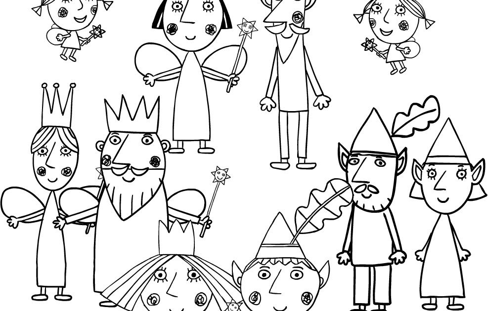 Print Off And Colour In These Ben And Holly Colouring Sheets Sheets Every Day Is A Good Day To Colo Ben And Holly Coloring Pages Free Printable Coloring Pages