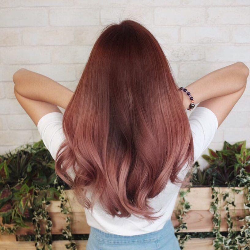 "HARTS SALON on Instagram: ""Rose gold! Hair : Noel (Director) Follow us @harts_salon  Promo on Bio  Dm or Contact us @ 62545762  #harts #harts_salon #hairxnoelng #sg…"""