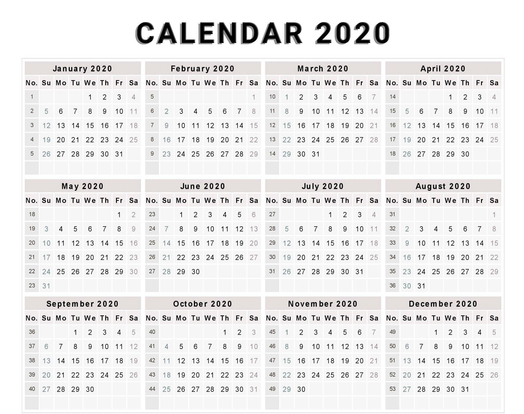 week number calendar