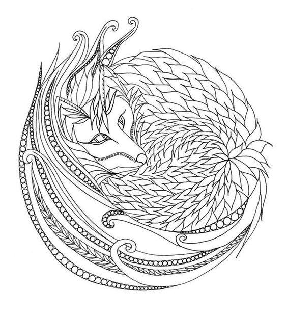 Pin de Barbara en coloring wolf, fox | Pinterest