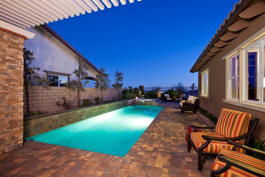 Beautiful Backyard At The Messina Model In Santaluz Nevada Homes New Beautiful Backyard Pools Model