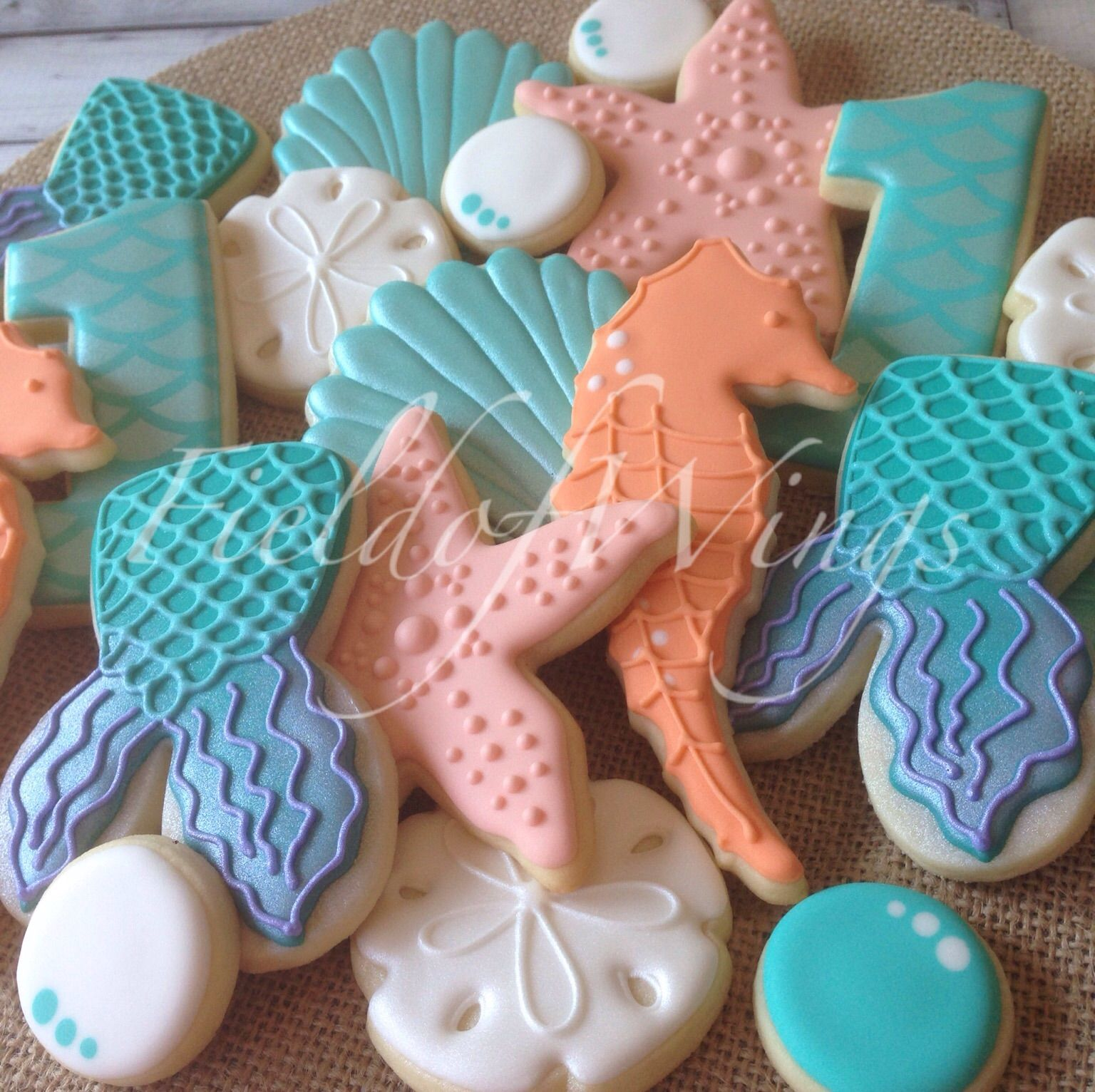 Under The Sea Sugar Cookie Set -- Field Of Wings