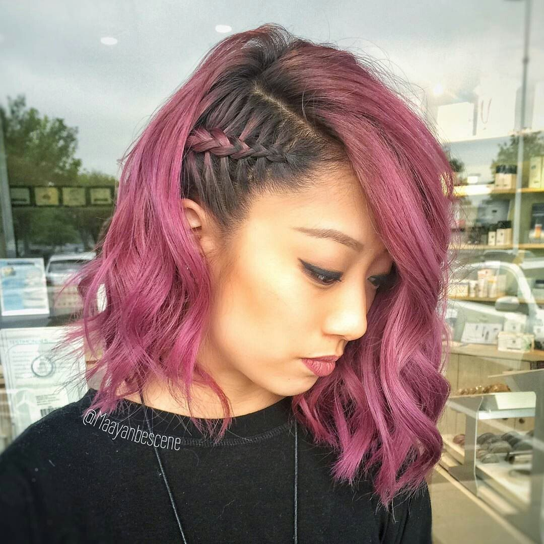 Side Braid Styles For Super Short Hair With Loose Waves Celebrity Short Hair Braids For Short Hair Thick Hair Styles