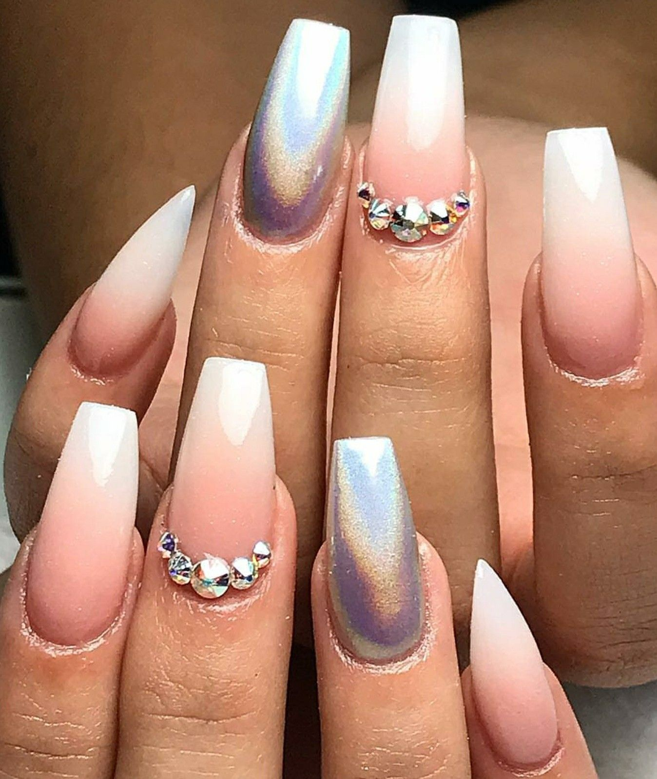 Tapered Square Nails. Coffin Nails. Ombre Nails. Holographic Nails ...