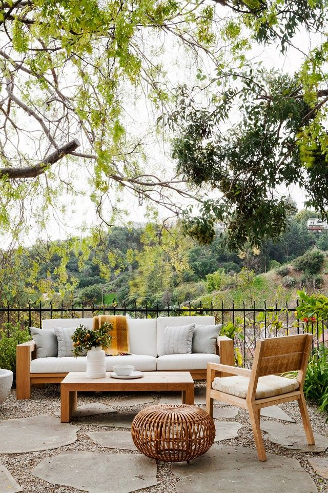 Our Hearts Skipped A Beat Upon Seeing This Majestic California Home Backyard Sitting Areas