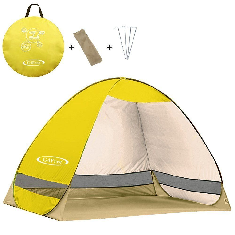 G4Free Outdoor Automatic Pop up Instant Portable Cabana Beach Tent 2 3 Person C&ing Fishing Hiking  sc 1 st  Pinterest & G4Free Outdoor Automatic Pop up Instant Portable Cabana Beach Tent ...