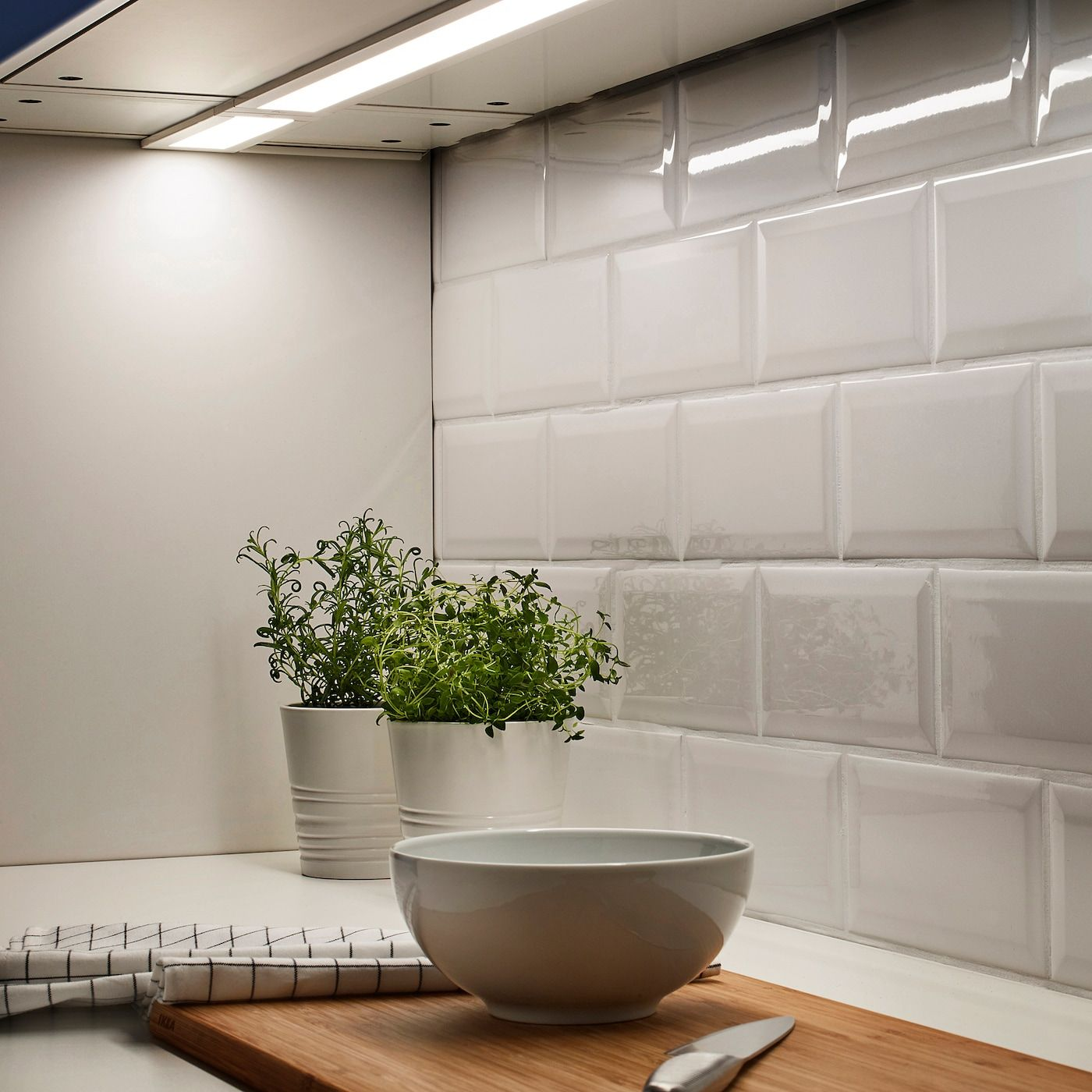 Ikea Stromlinje White Led Countertop Light In 2020 Led Ikea Countertops