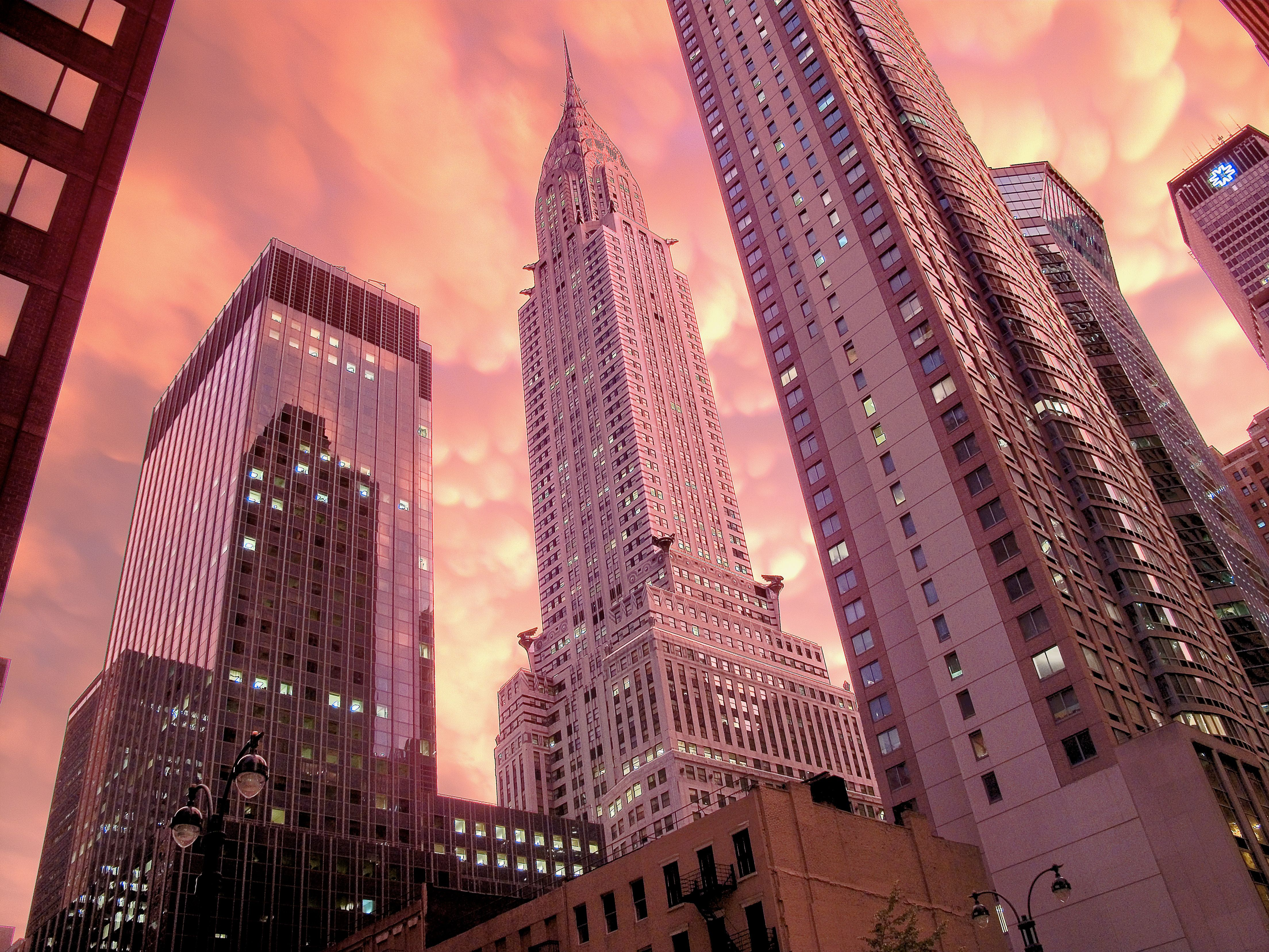 Chrysler building storm sunset 2 in 2020 City aesthetic