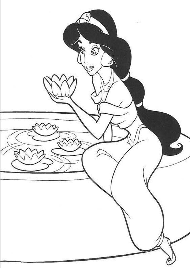 Kolorowanka Dzasmina Z Bajki Aladyn Nr 13 Princess Coloring Pages Disney Princess Coloring Pages Disney Princess Colors